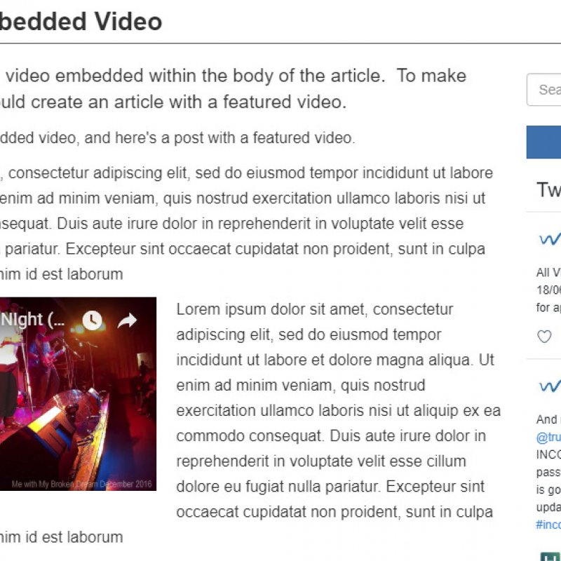 How To Embed A Video in an Article